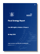 Cover of the Fiscal Strategy Report 2016.
